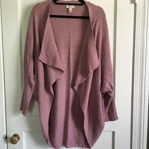 LOFT Batwing Sweater, Heather Pink, M/L